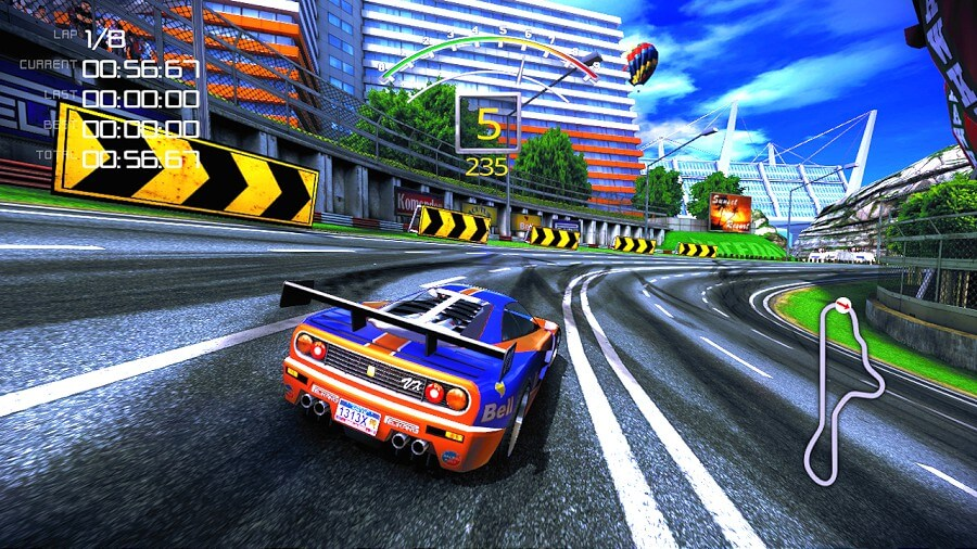 Screenshot do 90s Arcade Racer
