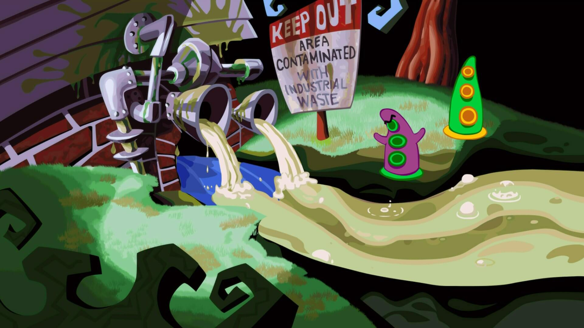 Screenshot do Day of the Tentacle Remastered