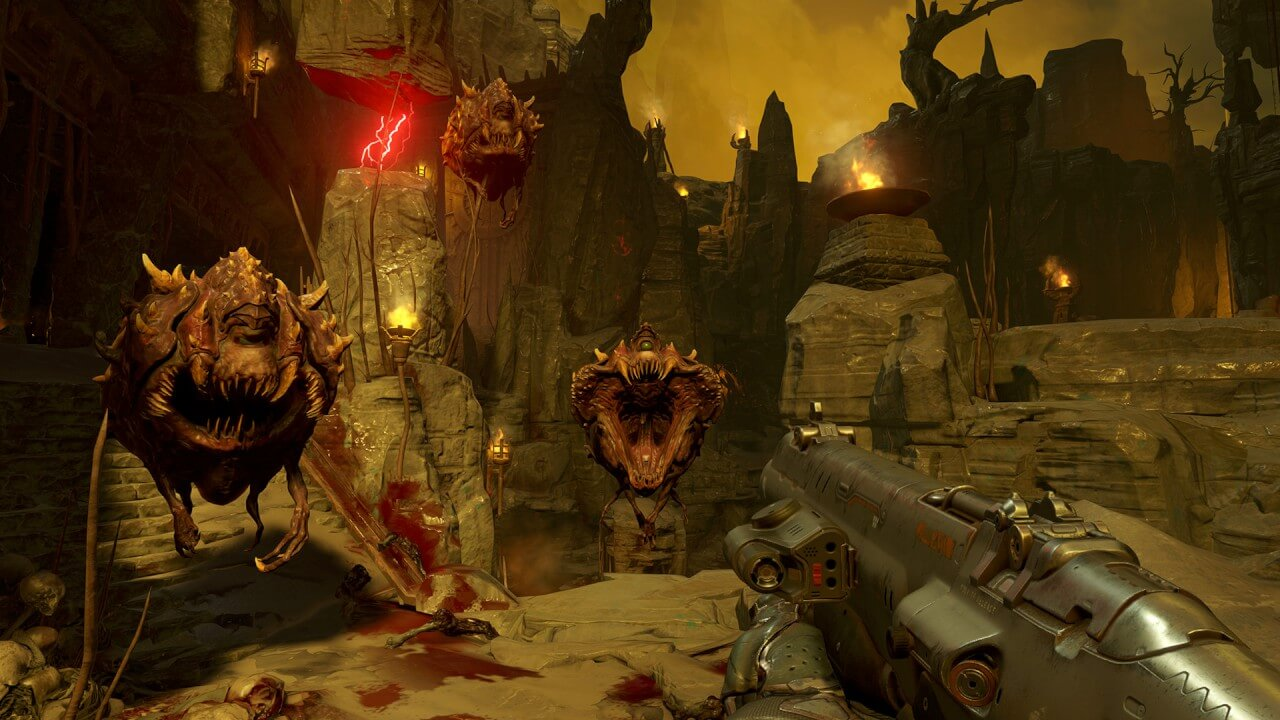 Screenshot do Doom