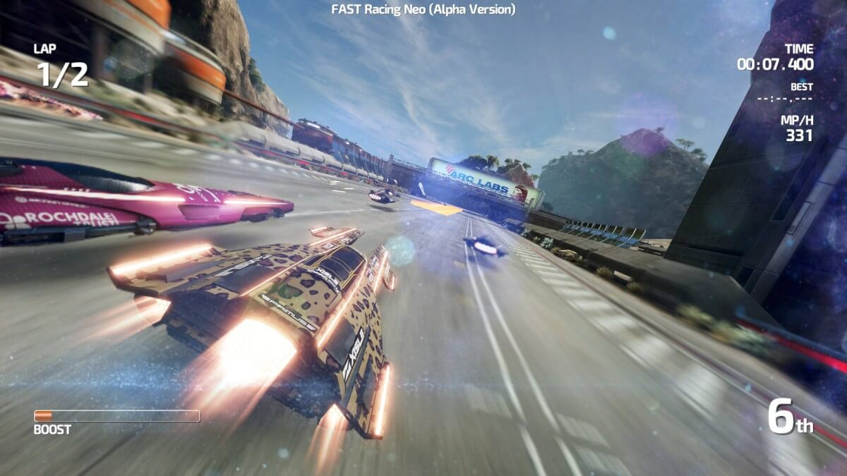 Screenshot do Fast Racing Neo