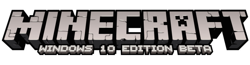 Logo do Minecraft: Windows 10 Edition Beta
