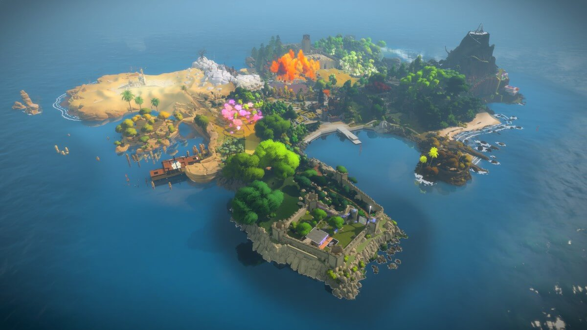 Screenshot do The Witness