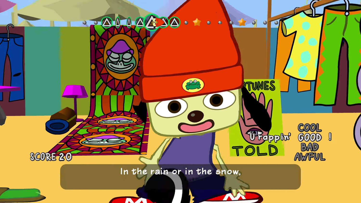 Screenshot de PaRappa the Rapper