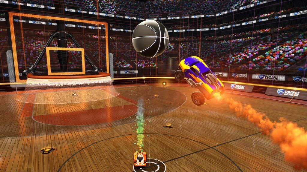 Basquete no Rocket League