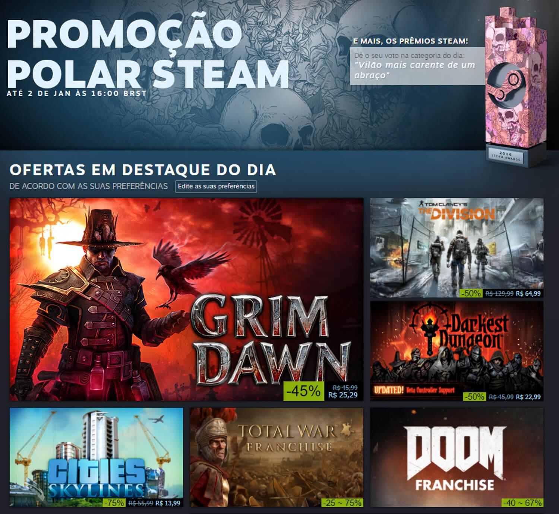 Começou a promoção de final de ano do Steam