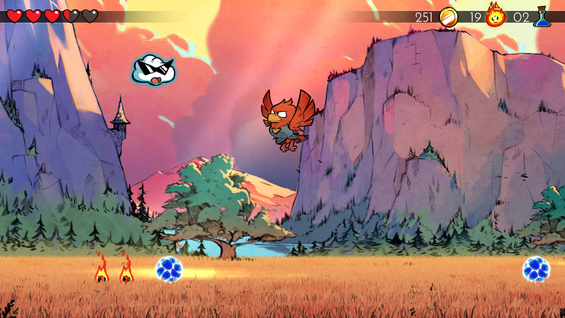 Screenshot do Wonder Boy: The Dragon's Trap