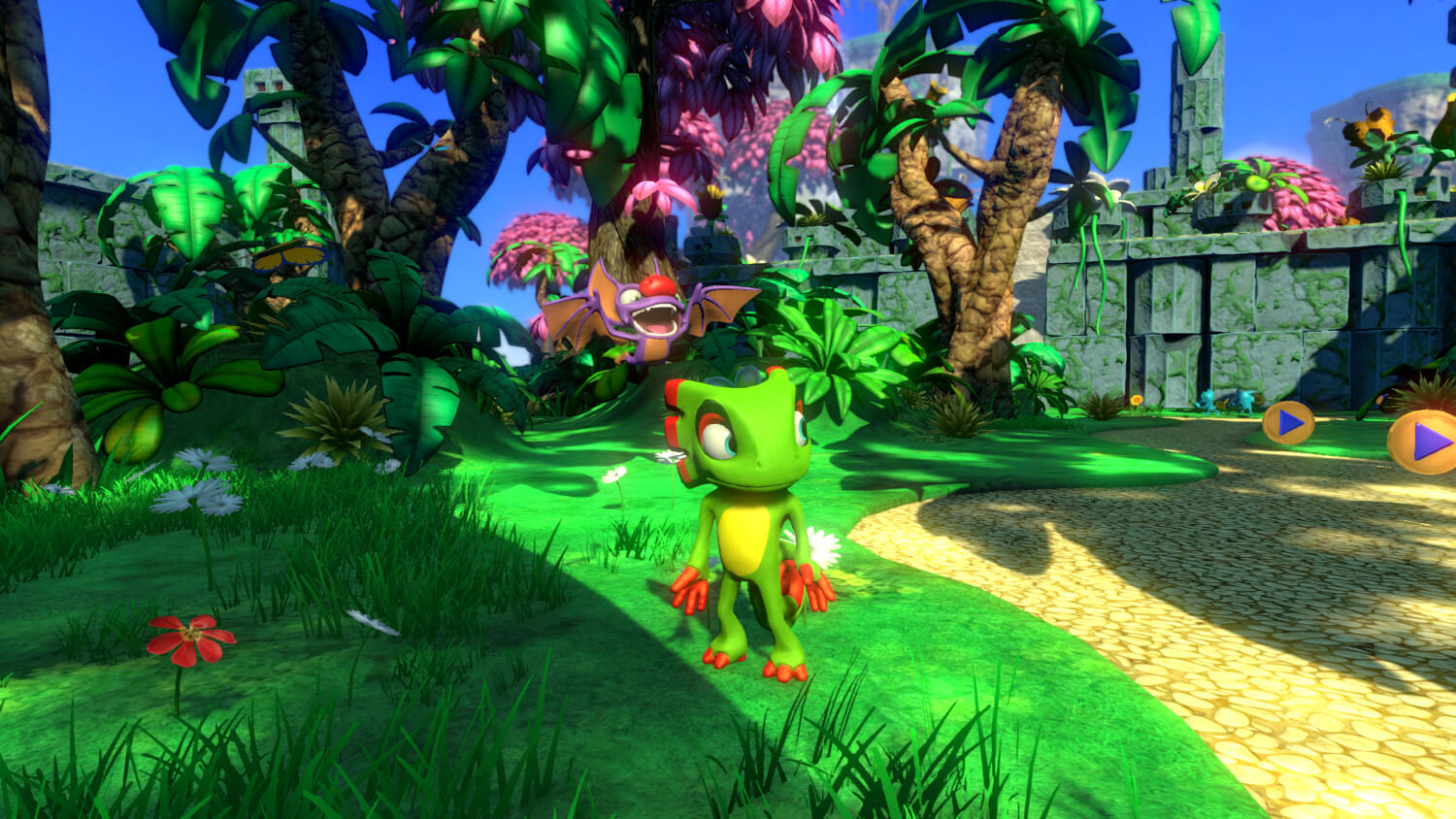 Screenshot do Yooka-Laylee