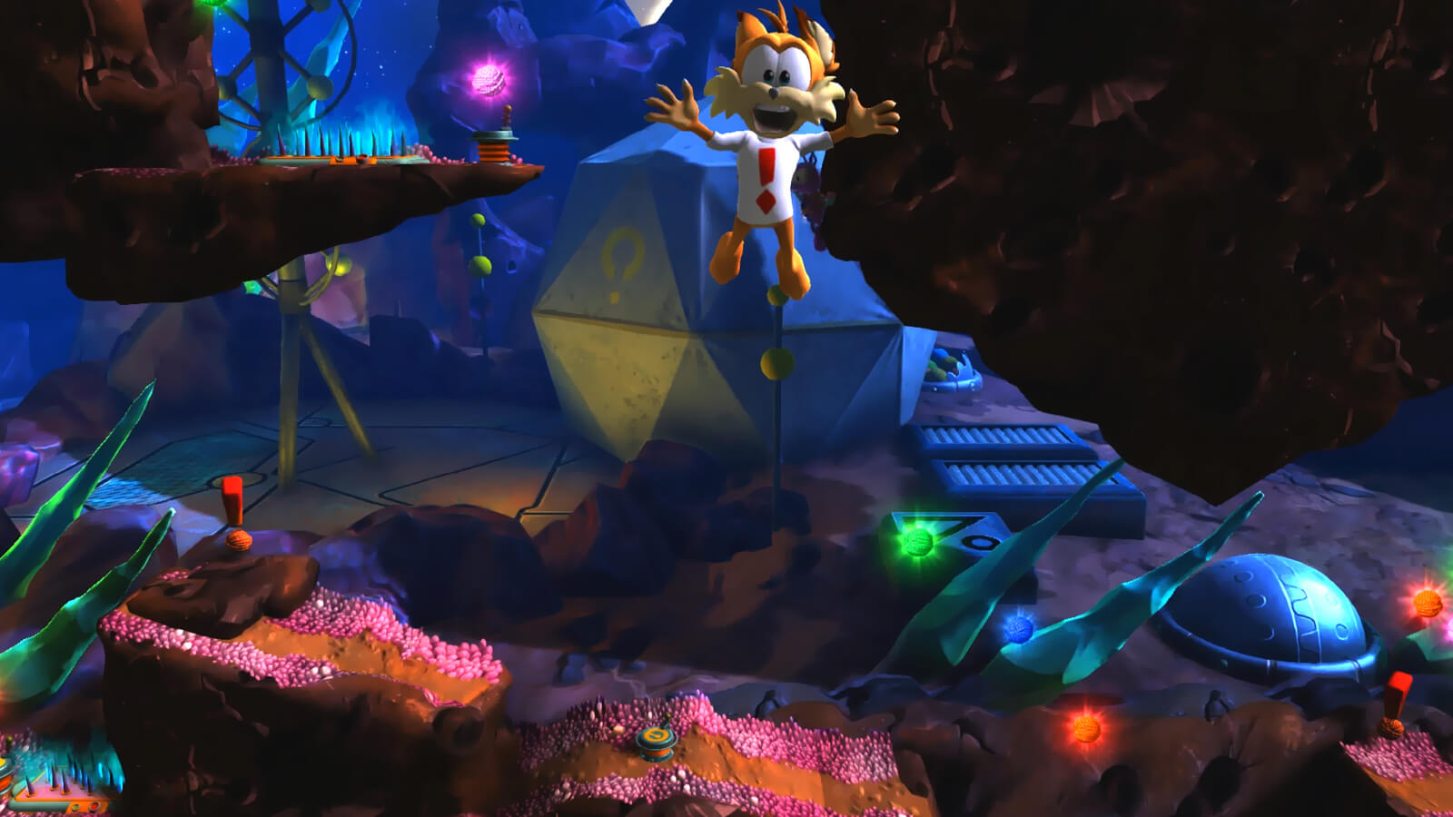 Screenshot de Bubsy: The Woolies Strike Back