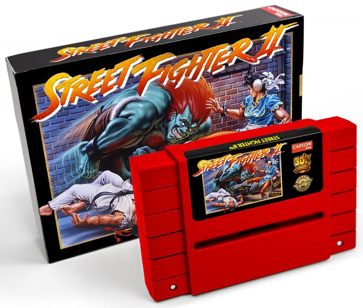 Cartucho Street Fighter II 30 anos