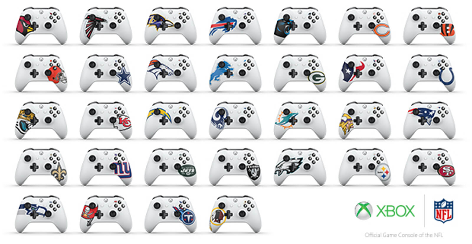 Joystick do Xbox One personalizado NFL
