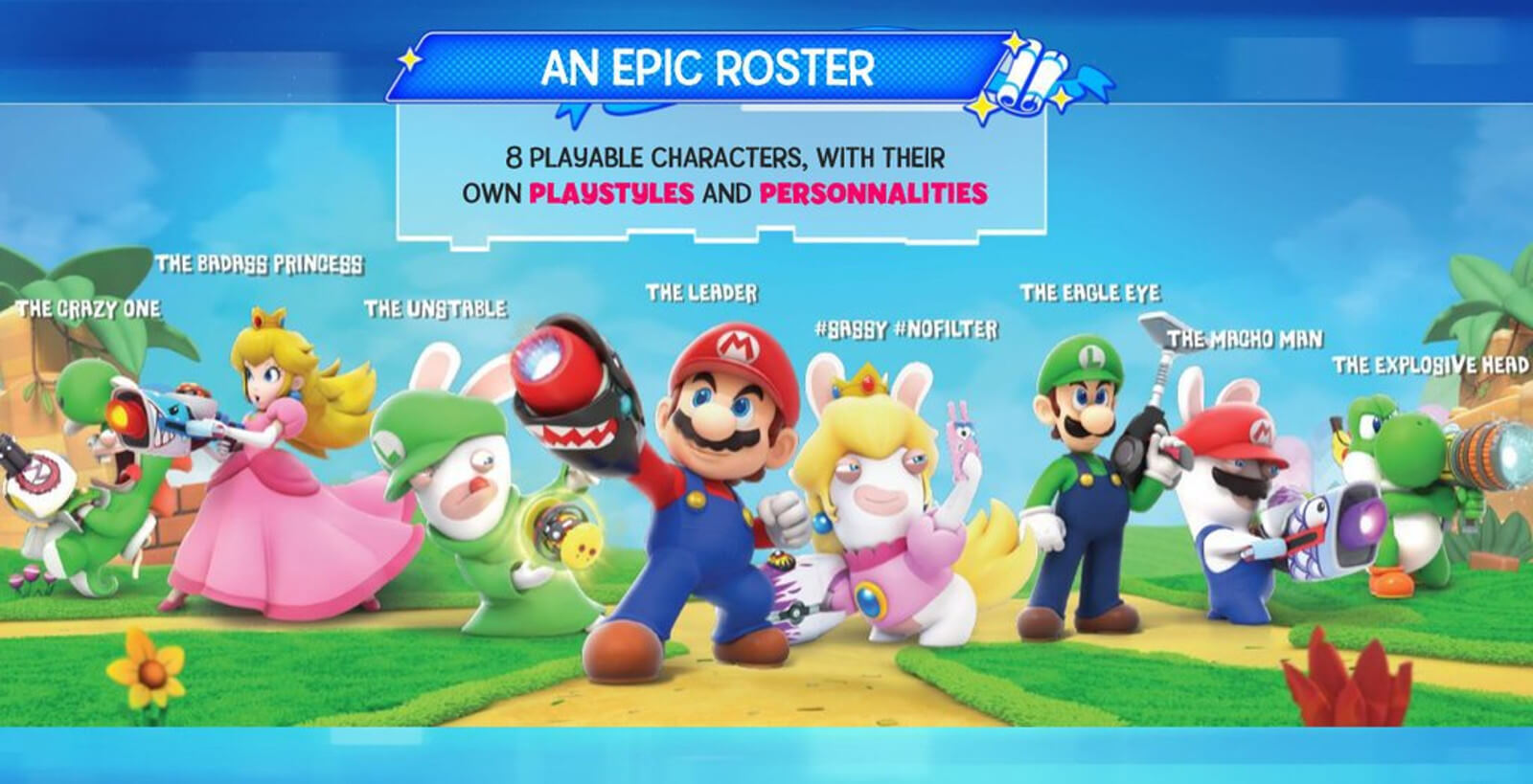 Slides de Mario + Rabbids Kingdom Battle