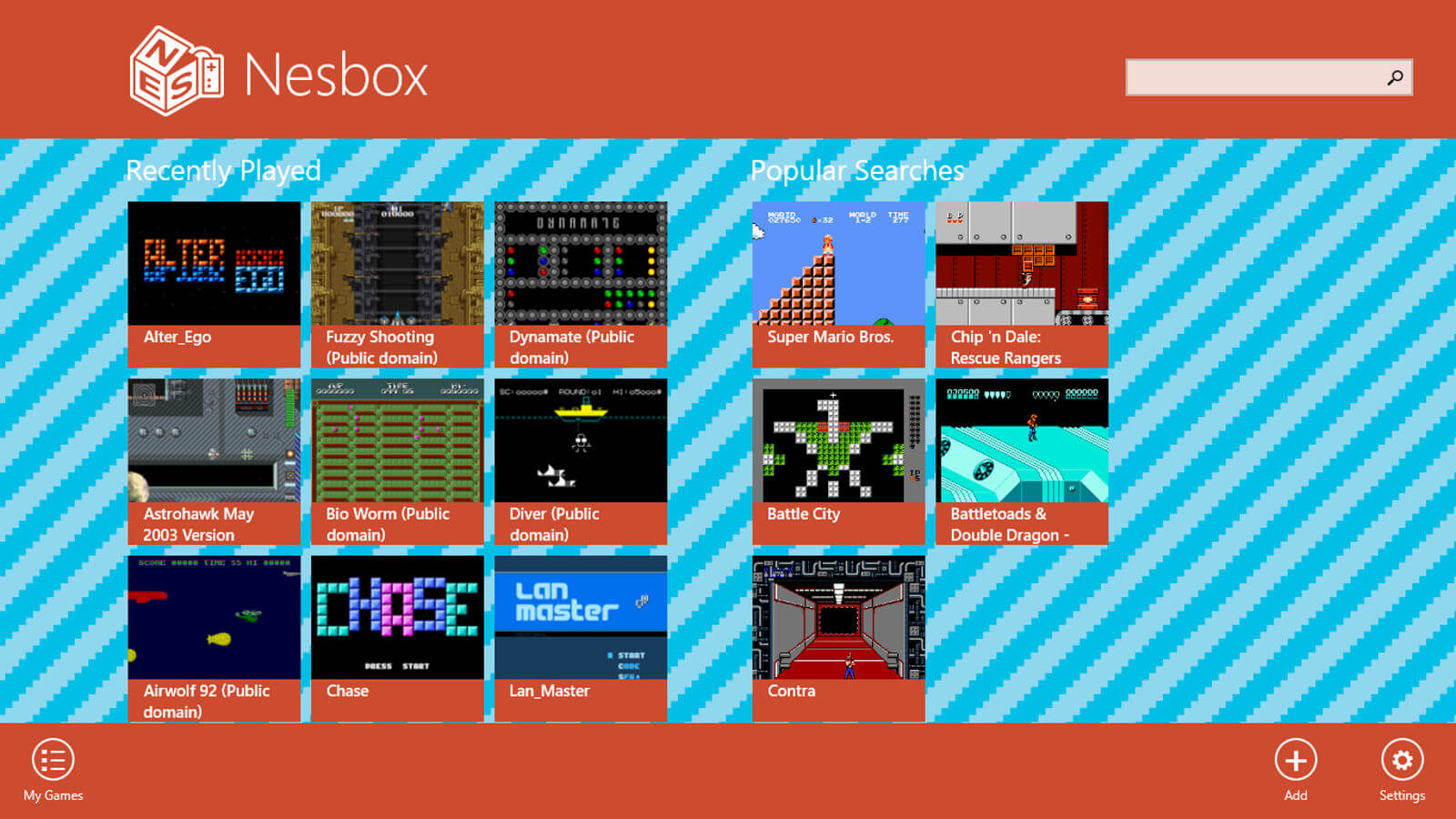 Screenshot do NES Box