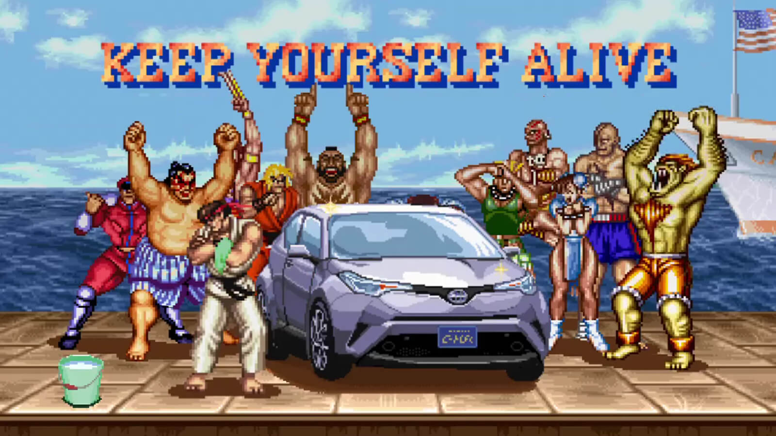 Toyota C-HR tem comercial com personagens de Street Fighter