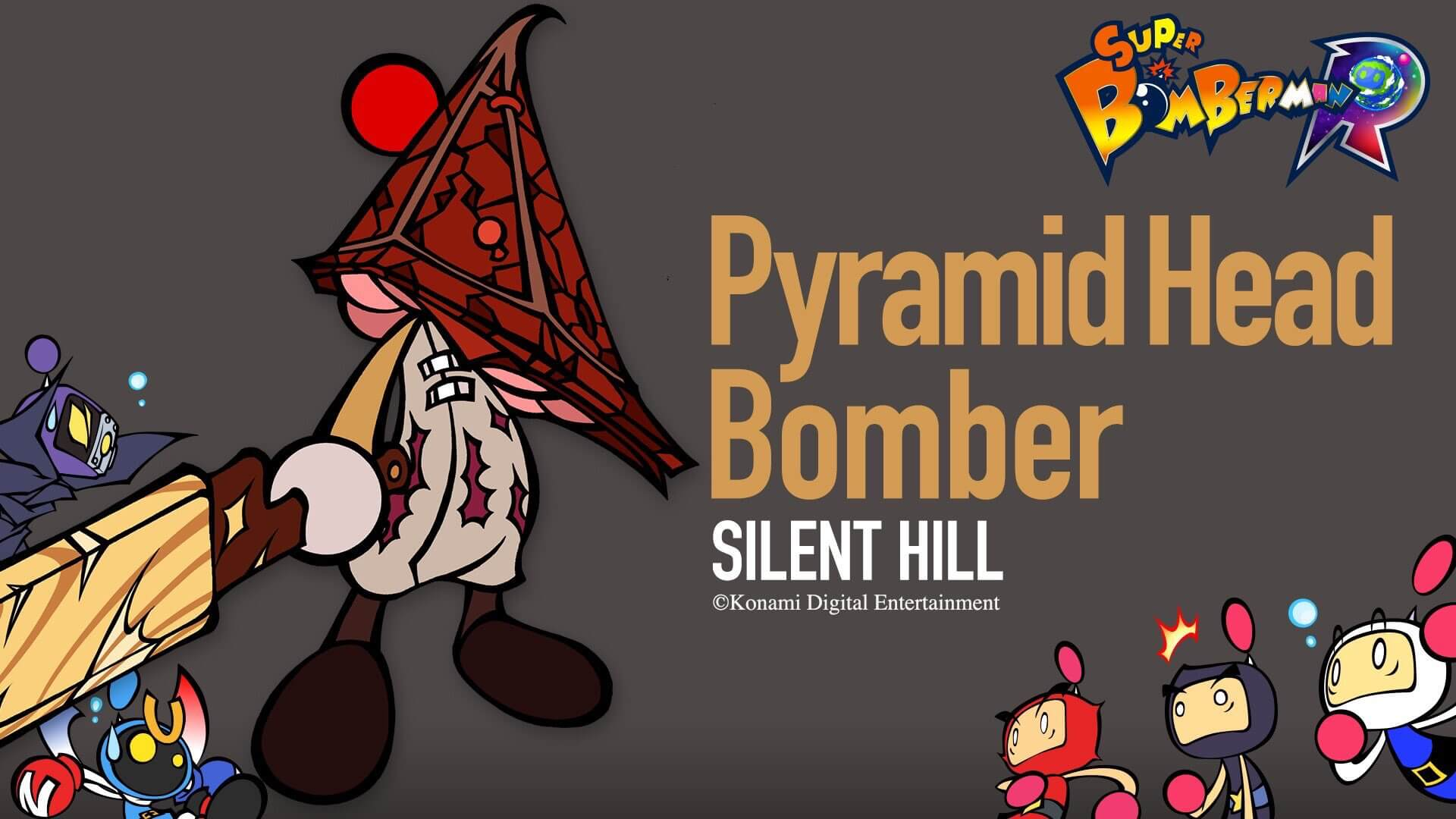 Pyramid Head em Super Bomberman R
