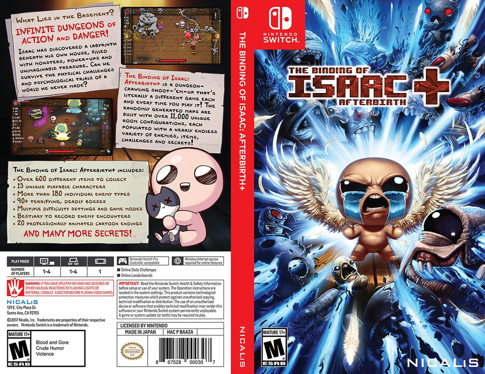 Capa de The Binding of Isaac: Afterbirth+
