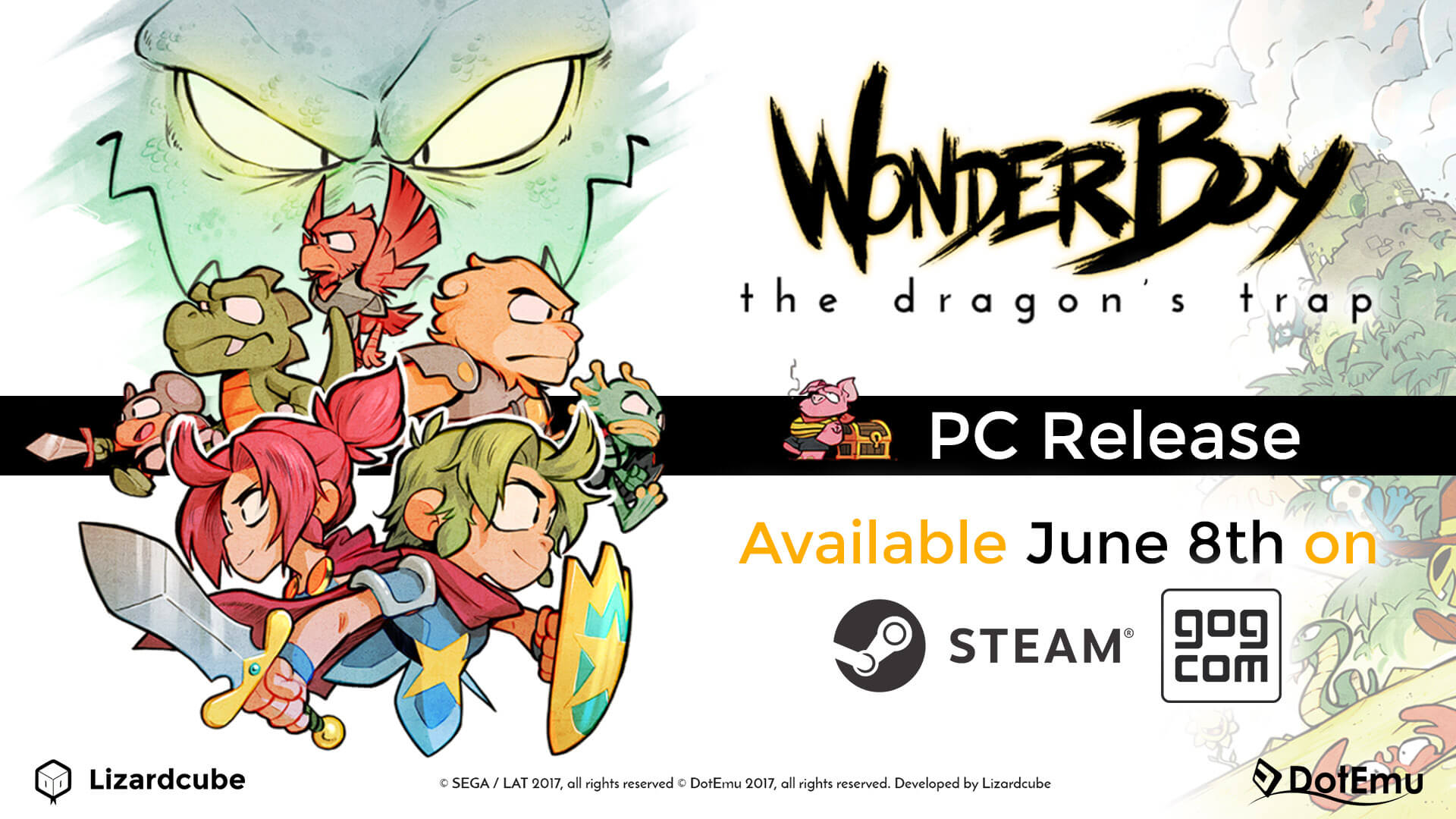 Wonder Boy: The Dragon's Trap para PC