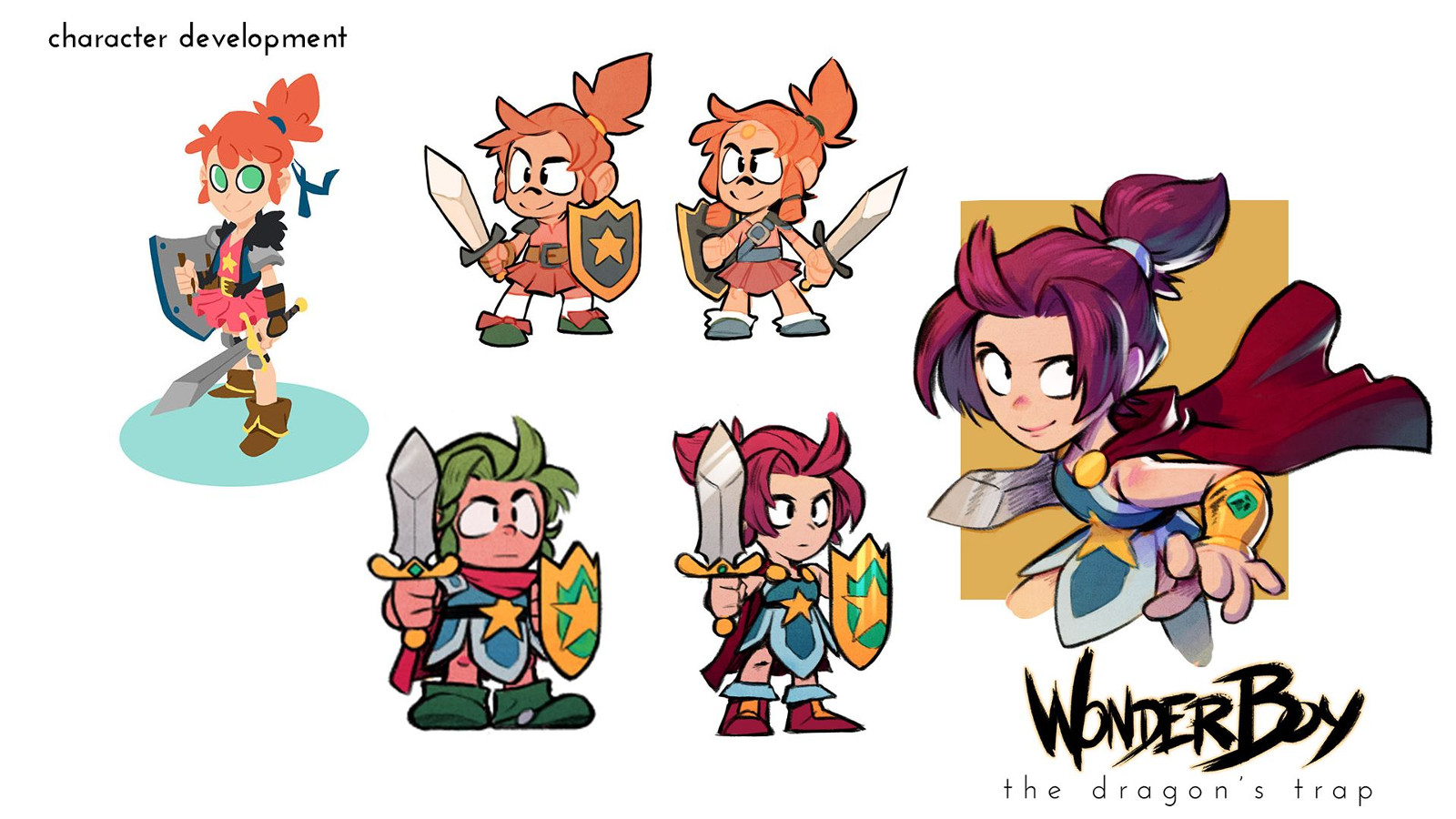 Wonder Girl em Wonder Boy: The Dragon's Trap