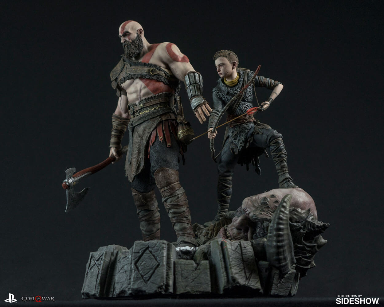 Screenshot de Kratos e Atreus