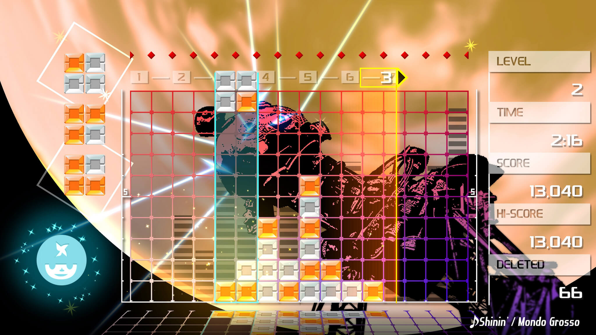 Screenshot de Lumines Remastered