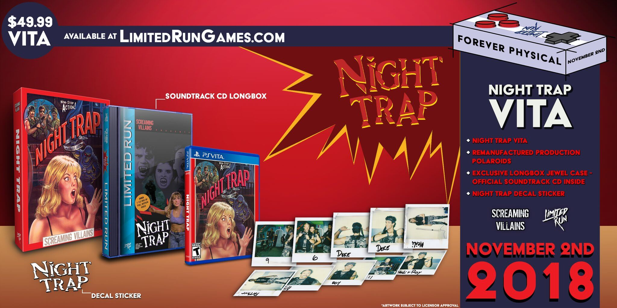 Night Trap - 25th Anniversary Edition para PlayStation Vita