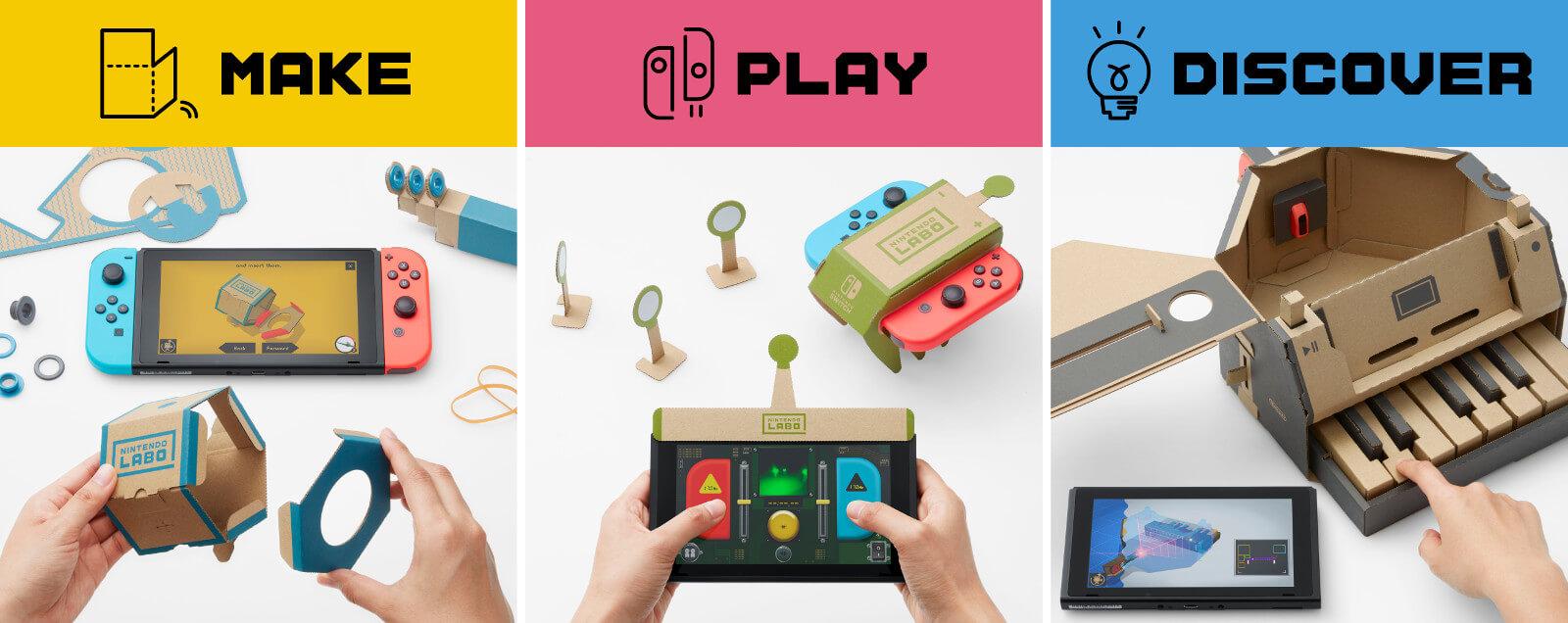 Nintendo Labo é uma coleção de acessórios de papelão para Switch