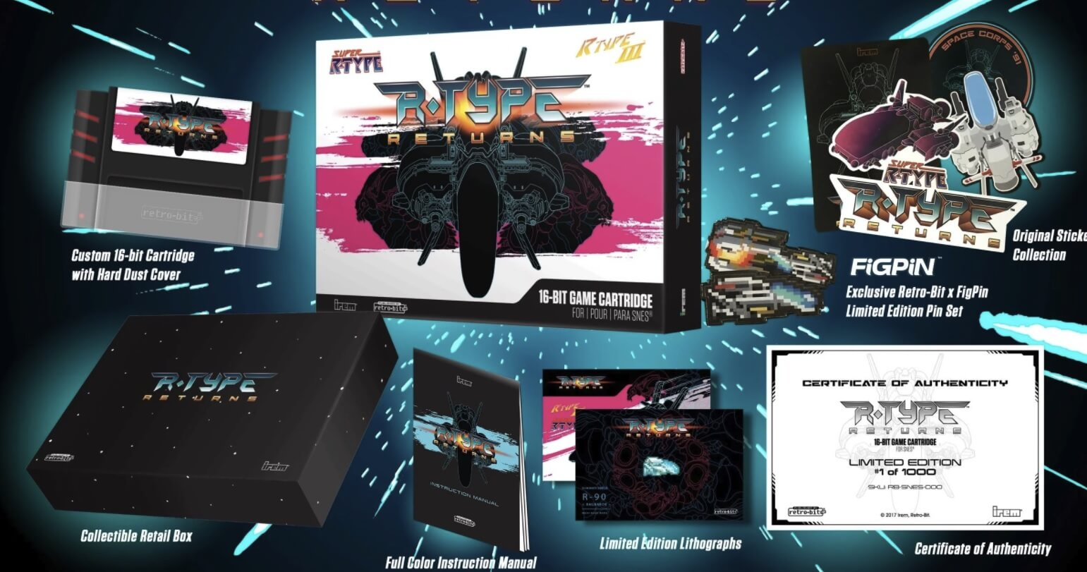 Cartucho R-Type Returns para SNES