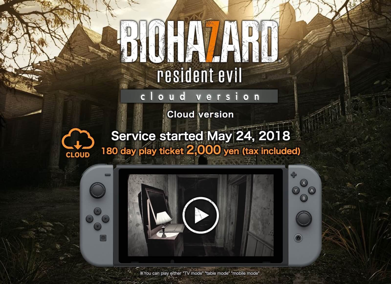 Resident Evil 7 Cloud Version