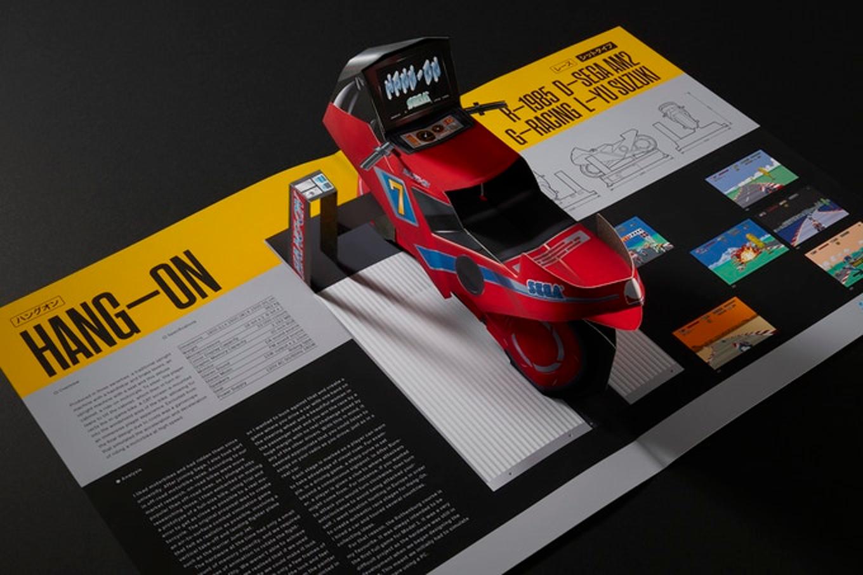 Incrível livro pop-up com fliperamas da Sega
