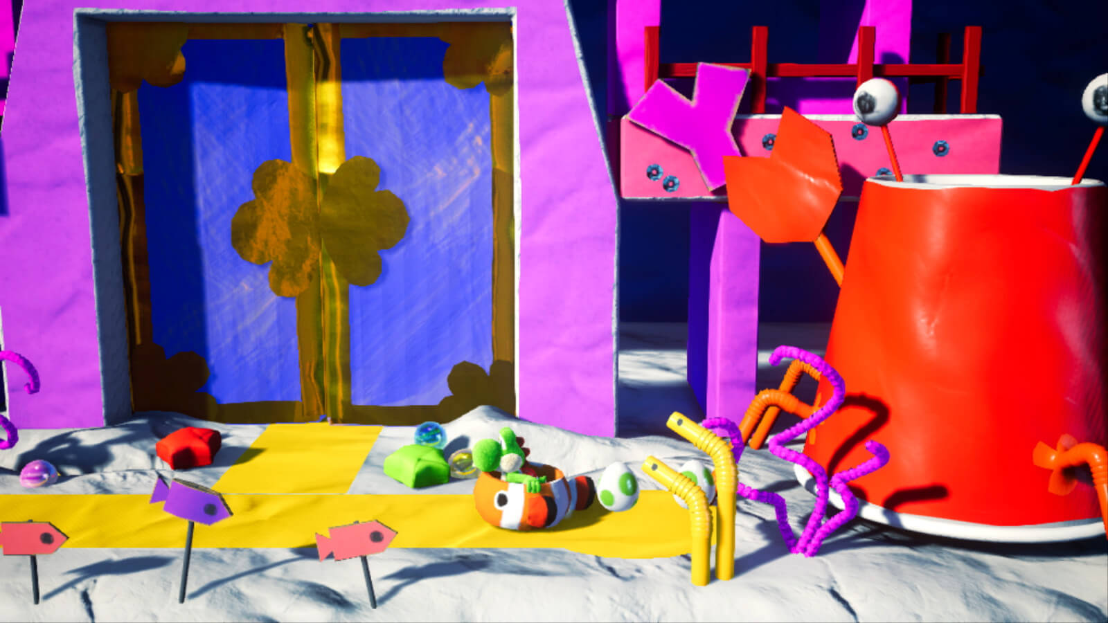 Screenshot de Yoshi's Crafted World