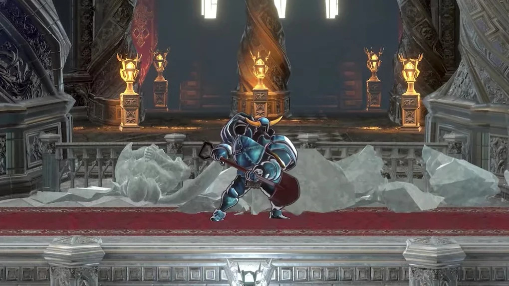 Shovel Knight em Bloodstained: Ritual of the Night
