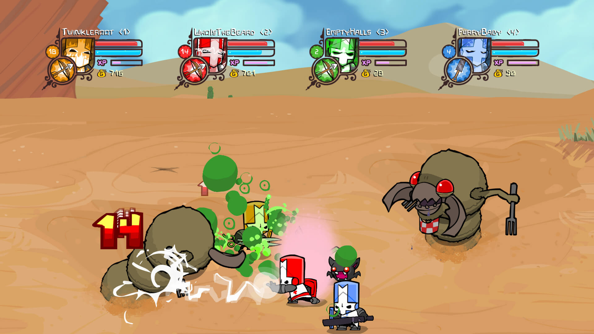 Screenshot de Castle Crashers Remastered