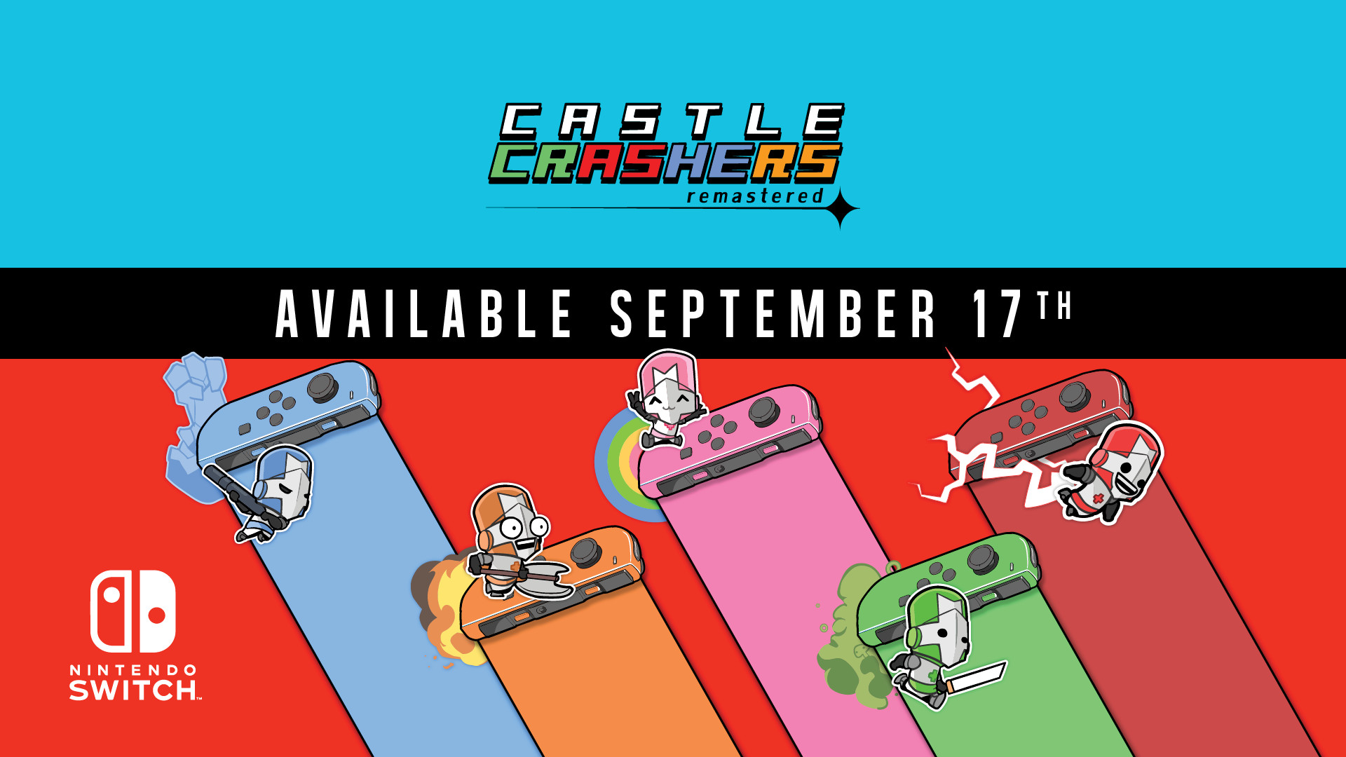 Castle Crashers Remastered no Nintendo Switch