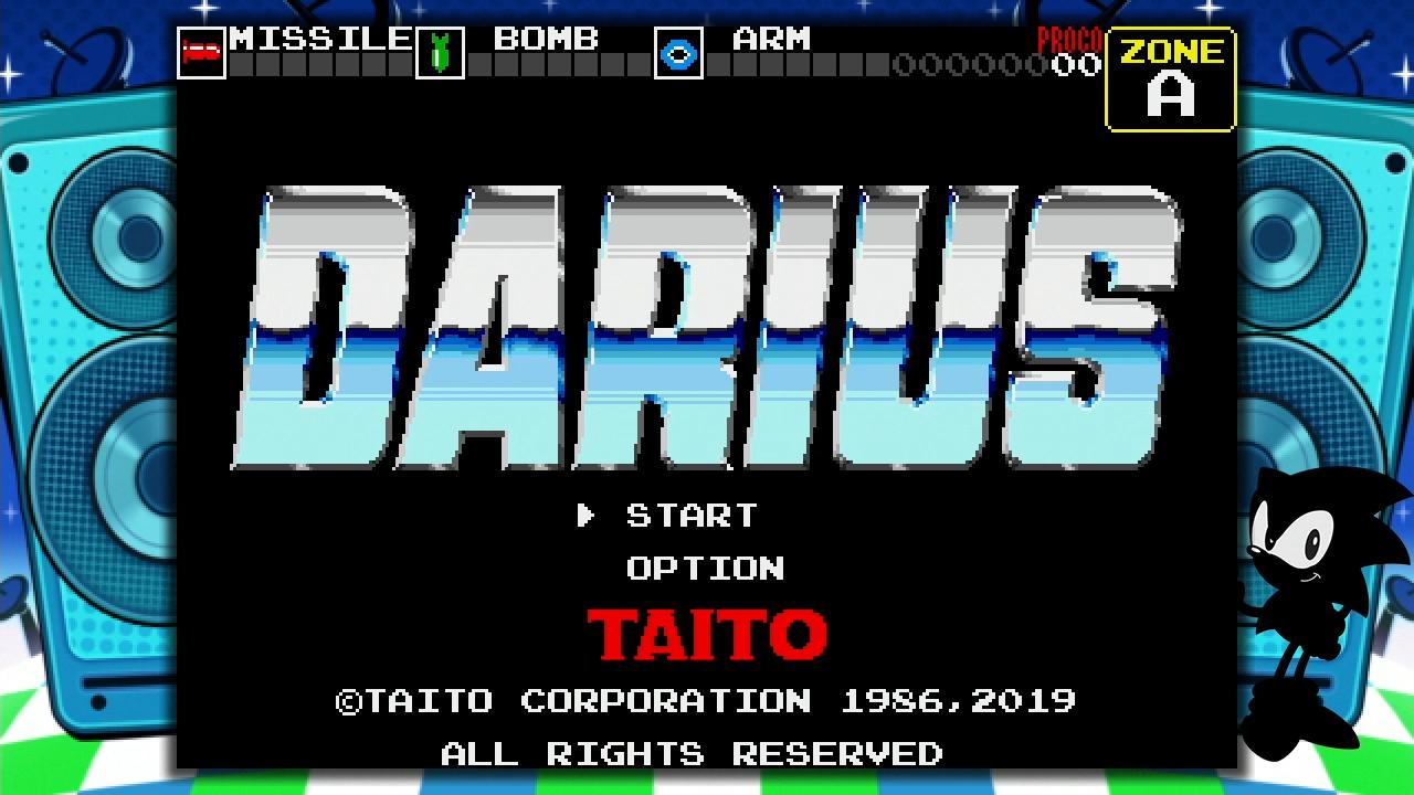 Darius no Mega Drive Mini