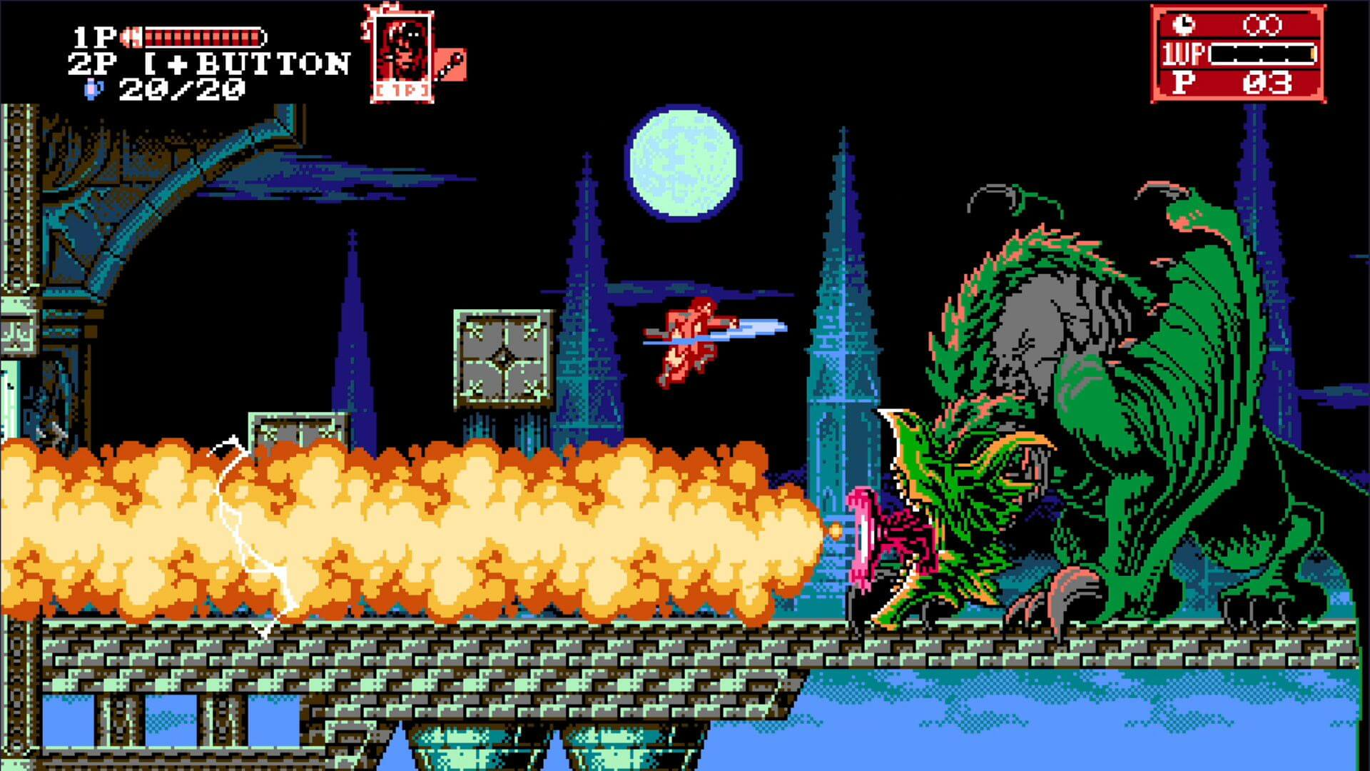 Screenshot de Bloodstained: Curse of the Moon 2