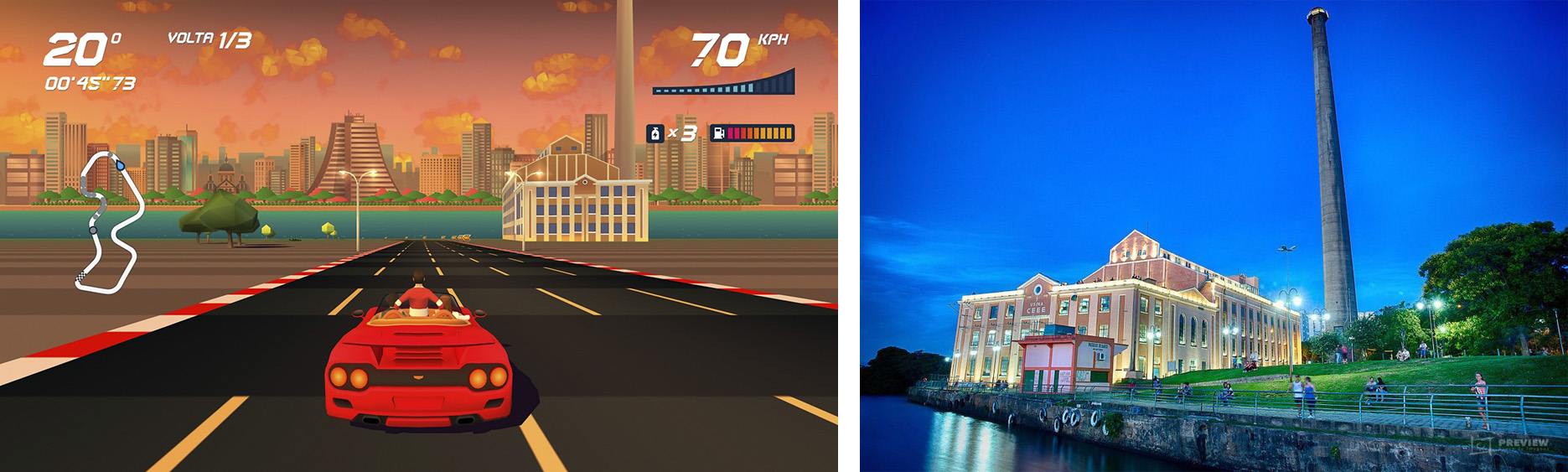 Horizon Chase Turbo – Devs Hometown - Usina do Gasômetro