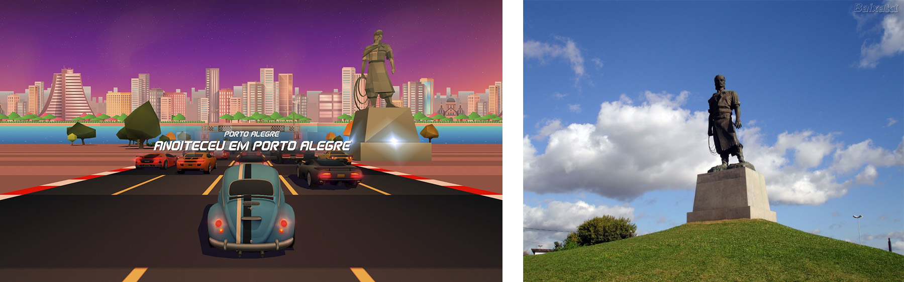 Horizon Chase Turbo – Devs Hometown - Estátua do Laçador