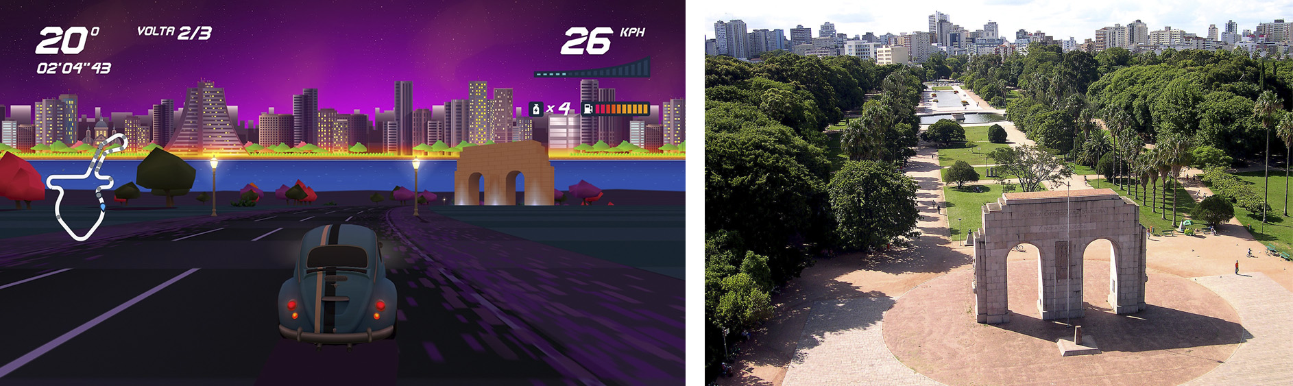 Horizon Chase Turbo – Devs Hometown - Monumento ao Expedicionário