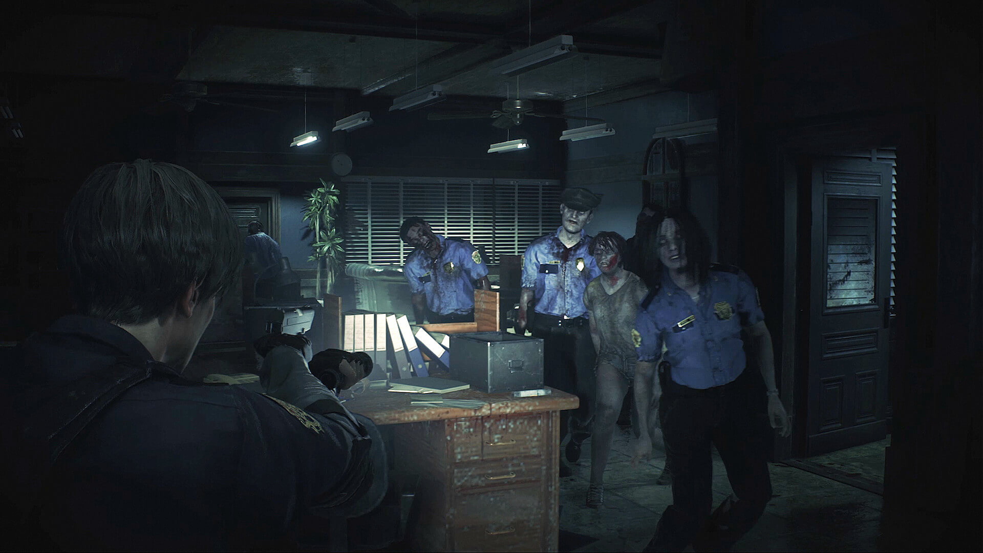 Screenshot do remake de Resident Evil 2