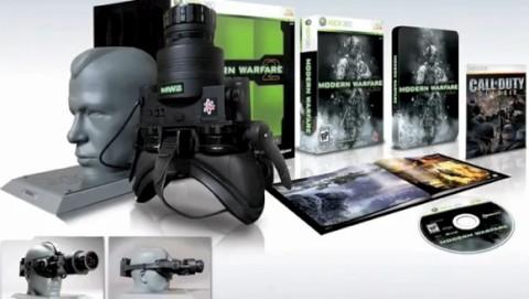A edição de colecionador se chama Modern Warfare 2  Prestige Edition e vêm  com o jogo, o óculos de visão noturna, um suporte, um livro com a arte do  jogo e ... 6d9967ed84