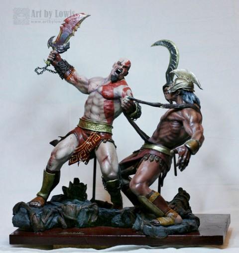 Incr 237 Vel Escultura Do Kratos Do God Of War Jogorama