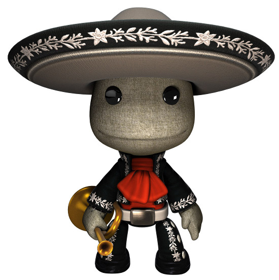 Roupa gratuita de mariachi para LittleBigPlanet