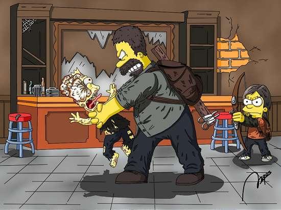 Como seria The Last of Us com os Simpsons