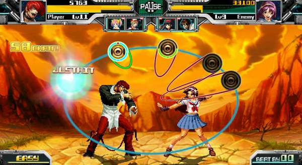 The Rhythm of Fighters combina The King of Fighters com jogo de ritmo