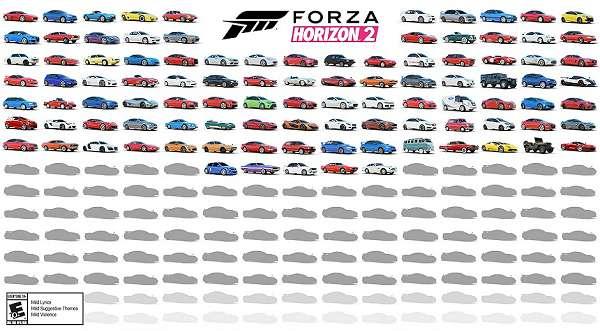 Conheça os 100 primeiros carros de Forza Horizon 2