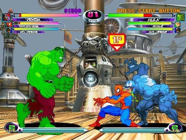 Resultado de imagem para marvel vs capcom PS2